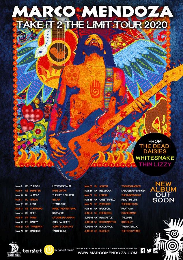 Marco Mendoza Take It 2 The Limit tour dates flyer